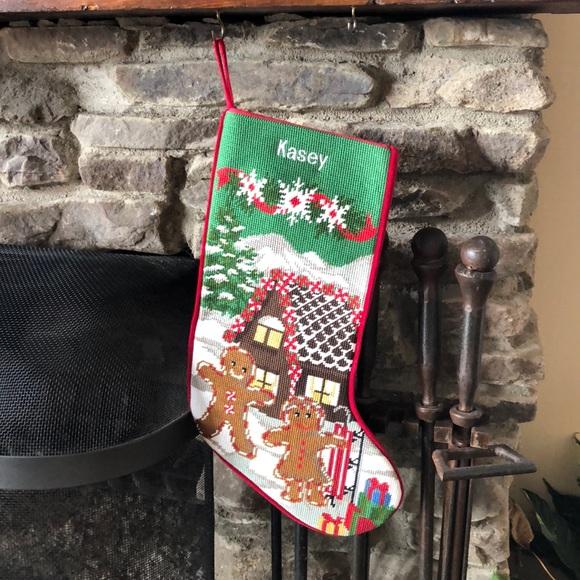 Embroidered Christmas Stockings.Embroidery Christmas Stocking With Name Kasey